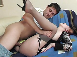Horny Couple Having Hot Sex with Their Clothes On