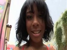 cute ebony teen anal