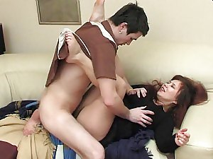Clothed Sex With Horny Mature