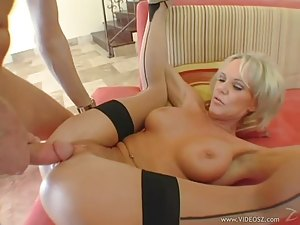 Busty Blonde MILF Gets Nailed By A Huge Dick