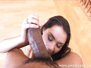 Sexy Charley Chase Gives Hot Interracial Blowjob